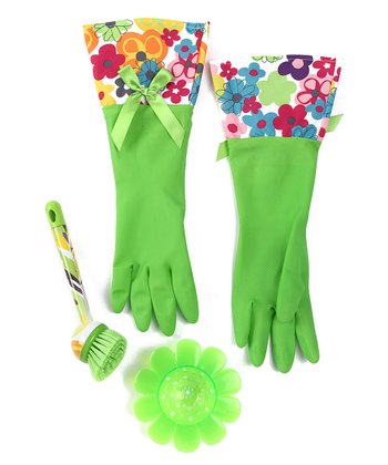 Lime Watercolor Cleaning Set