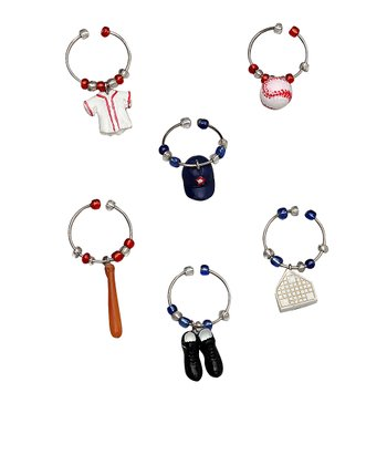 Batter Up Wine Charm Set