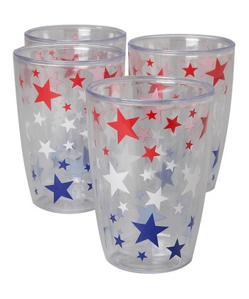 Americana 16-Oz. Insulated Tumbler - Set of Four