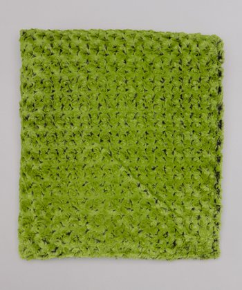 Green Apple Rose Throw