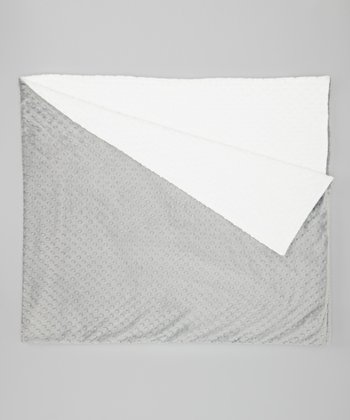 White & Gray Minky Throw