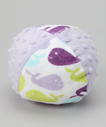 Purple Whale Minky Plush Ball Toy