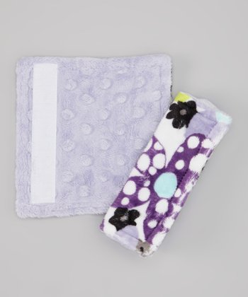 Lavender Flower Power Strap Cover Set