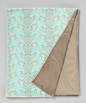 Marina & Café Solid Damask Throw