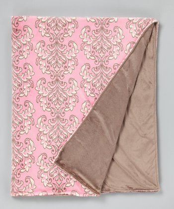 Rosa & Coco Solid Damask Throw