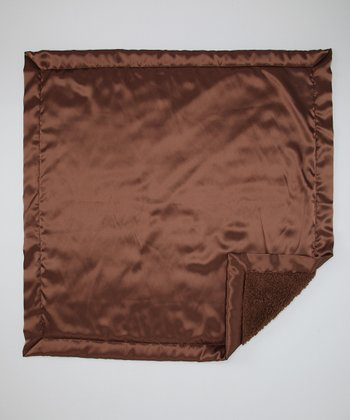 Brown Satin Sherpa Baby Blanket