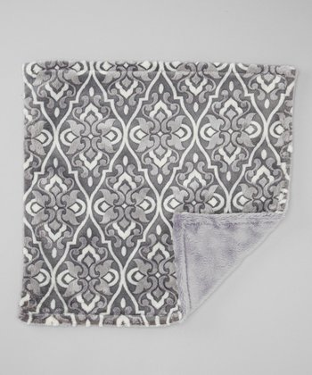 Carbon Valencia Damask Security Blankee