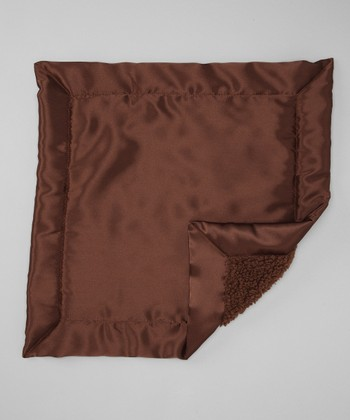Brown Satin Sherpa Security Blankee