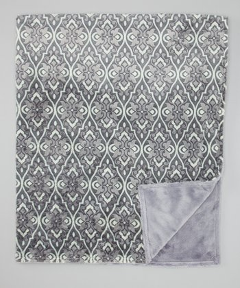 Carbon Valencia Damask Toddler Blanket