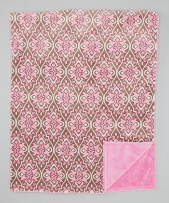 Rosa Valencia Damask Toddler Blanket