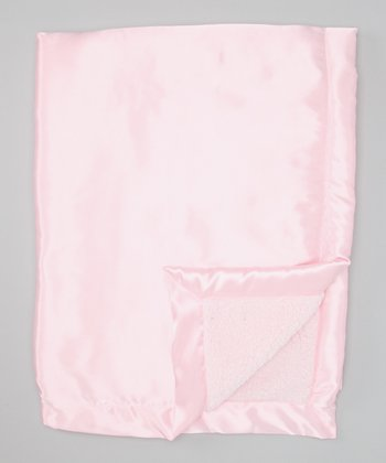 Pink Satin Sherpa Toddler Blanket