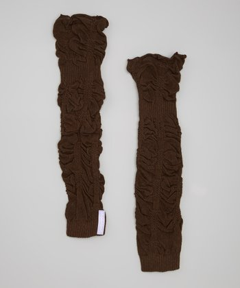Chocolate Ruffle Leg Warmers