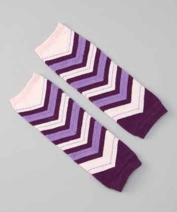 Boysenberry Chevron Ziggy Leg Warmers