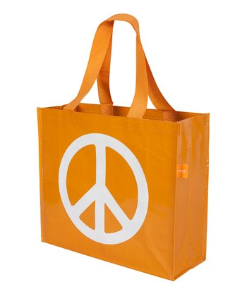 Orange Peace Tote - Set of Two