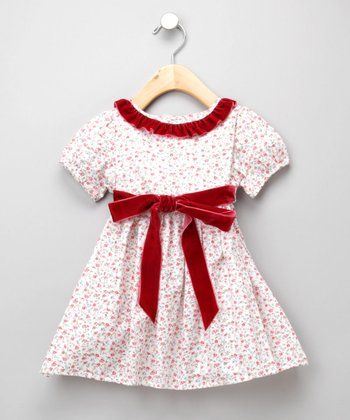 Red Floral Ruffle Dress - Infant & Toddler