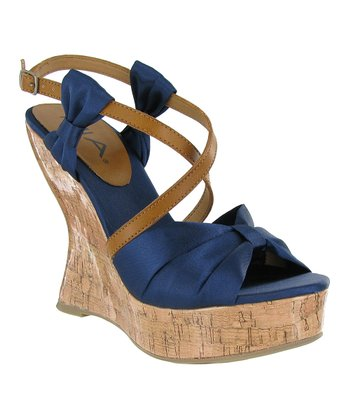 Navy Isabella Wedge