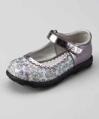 Pewter Leopard Glitter Mary Jane