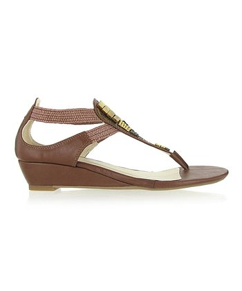 Tan Solar Beaded Sandal
