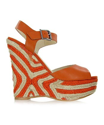 Orange Gianna Wedge