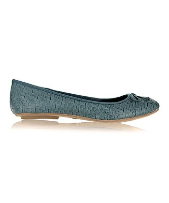 Blue Brandy Basketweave Flat