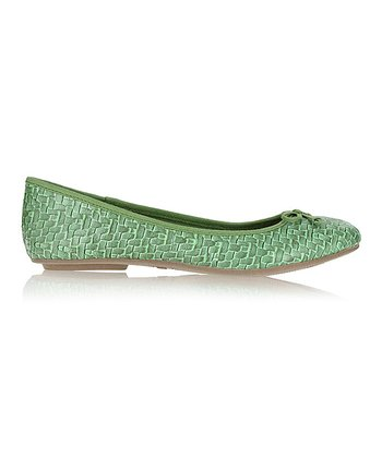 Willow Green Brandy Basketweave Flat