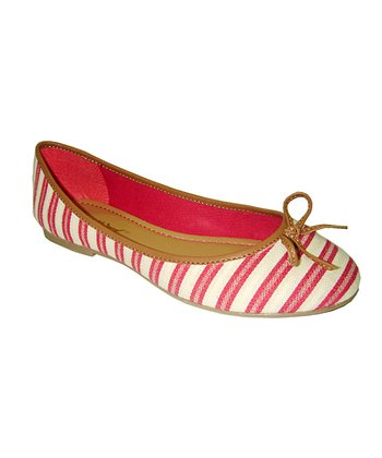 Red Stripe Blondell Flat