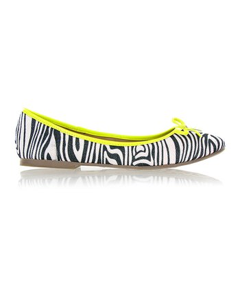 Zebra & Yellow Blondell Flat