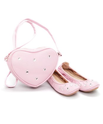 Ragg Shoes - Pink Brandy Ballet Slipper & Purse Set