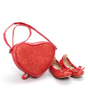 Red Carrie Ballet Slipper & Purse Set