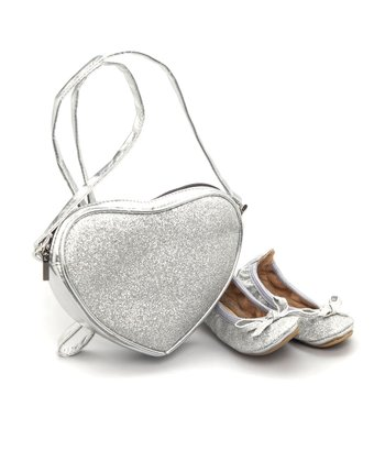 Silver Carrie Ballet Slipper & Purse Set - Infant & Toddler