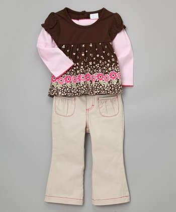 Baby Togs & BT Kids - Flower Layered Top Set
