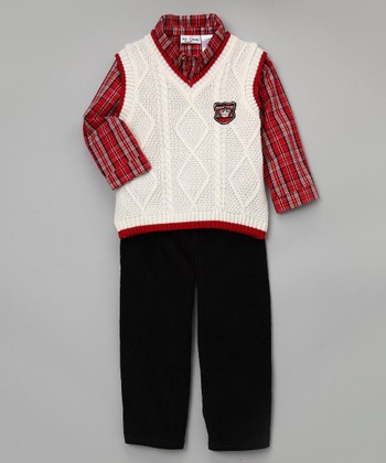 Baby Togs & BT Kids - Ivory Sweater Vest Set
