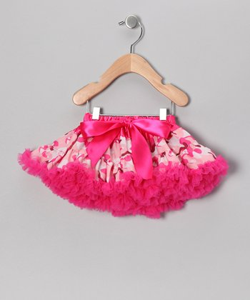 Pink Camo Bow Pettiskirt - Infant, Toddler & Girls