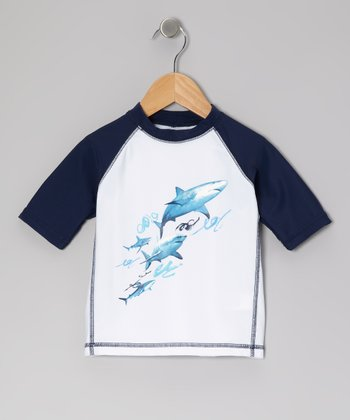 White Shark Reef Rashguard - Infant, Toddler & Boys