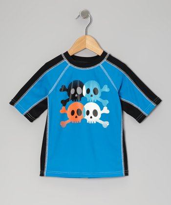 Riptide Blue Skull Rashguard - Infant