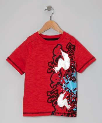 Red Formula One Skate Tee - Toddler & Boys
