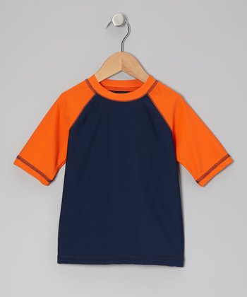 Navy Colo Block Rashguard - Infant, Toddler & Boys