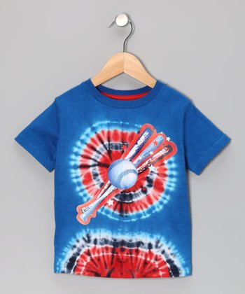 Bull's-Eye Tie-Dye Home Run Tee - Toddler