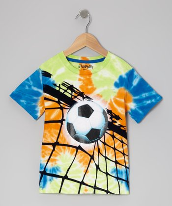 Multi Tie-Dye Soccer Champ Tee - Toddler