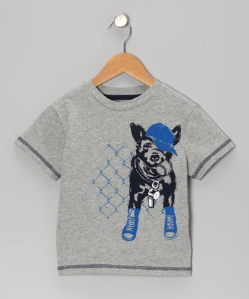 Light Heather Gray Doggone Tuff Tee - Toddler & Boys