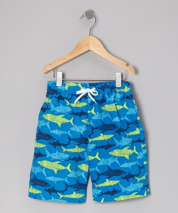 Blue Shark Swim Trunks - Infant, Toddler & Boys
