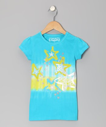 Aqua Starlet Tie-Dye Tee - Toddler & Girls
