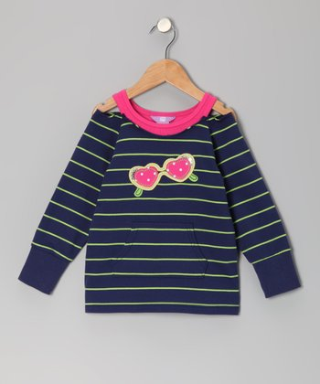 Admiral Navy Sunglasses Cutout Top - Toddler & Girls