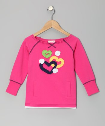 Pink Heart Top - Toddler & Girls
