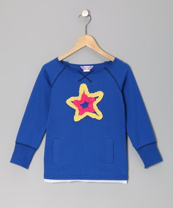Royal Blue Star Top - Toddler & Girls
