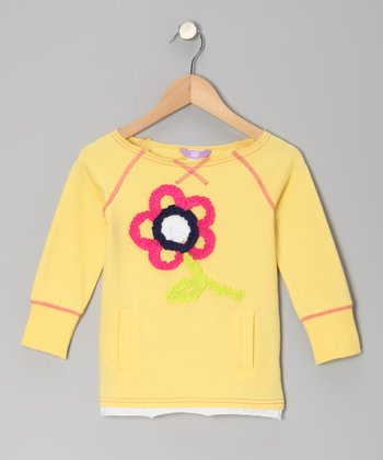 Lemonade Flower Top - Toddler & Girls