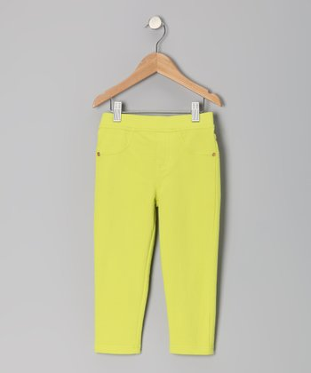 Time Out Lime Color Pop Capri Pants - Toddler & Girls