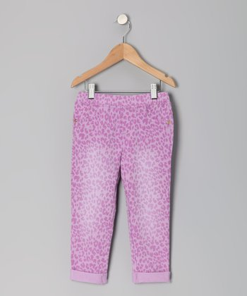 Lilac Flash Janette Leopard Capri Pants - Toddler