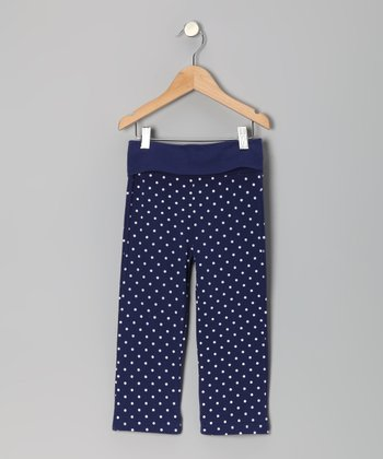 Admiral Navy & White Polka Dot Pants - Toddler & Girls