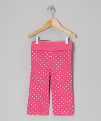 Pony Pink & White Polka Dot Pants - Toddler & Girls